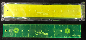 2 X 12 inch Green Longarm Ruler - Kathy Quilts