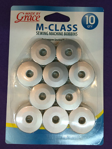 Block RockiT and Q'nique Quilter - M Size Molded Aluminum Bobbins - set of 10