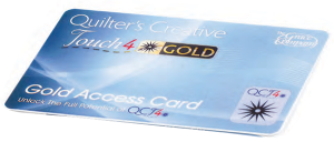 Quilter's Creative Touch 4 - Gold Access Card One Year Subscription For QuiltMotion Standard 4.0